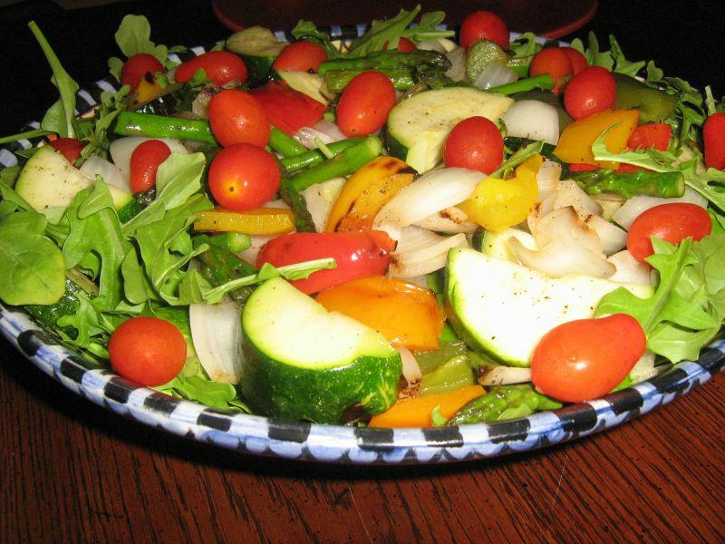 Grilled veg salad