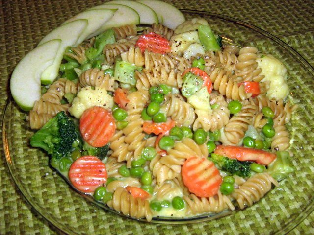 Coconut Curried Veggies and Pasta