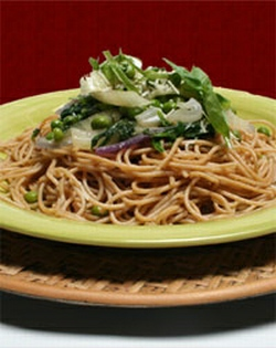Whole-wheat pasta with fennel