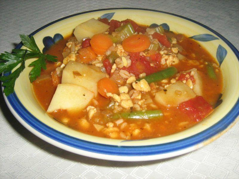 Barley Tempeh Soup
