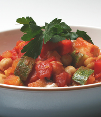 Mediterranean Chickpea Stew with Polenta