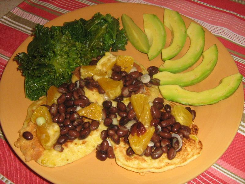 Corn fritters and salsa