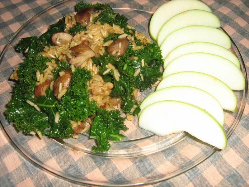 Seasone Rice and Kale