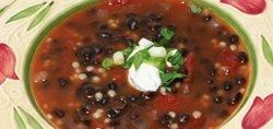 Black Bean Soup with Israeli Couscous