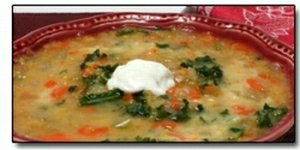 Greens and Lentil Soup  with Kale