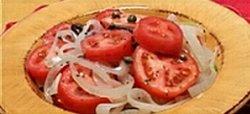 Winter tomato salad